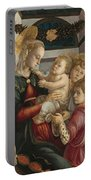 Madonna And Child With Angels Portable Battery Charger