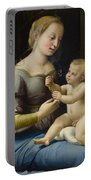 Madonna Of The Pinks Portable Battery Charger