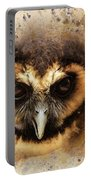Malaysian Brown Wood Owl Portable Battery Charger