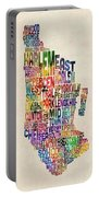 Manhattan New York Typographic Map Portable Battery Charger