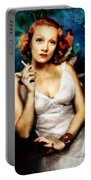 Marlene Dietrich, Vintage Actress Portable Battery Charger