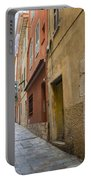 Medieval Street In Villefranche-sur-mer Portable Battery Charger