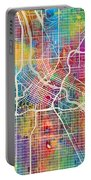Minneapolis Minnesota City Map Portable Battery Charger