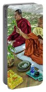 Monks Blessing Buddhist Wedding Ceremony In Cambodia Portable Battery Charger
