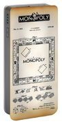 Monopoly Board Game Patent Art  1935 Portable Battery Charger