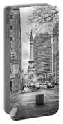 Monument Circle Portable Battery Charger by Howard Salmon