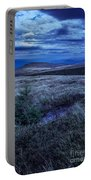Moonlight On Stone Mountain Slope With Forest Portable Battery Charger