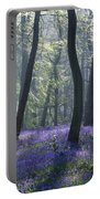 Morning Bluebells Portable Battery Charger