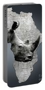 Mother Africa With A Rhino  Portable Battery Charger