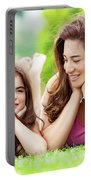 Mother With Daughter Outdoors Portable Battery Charger