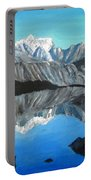 Mountains Landscape Acrylic Painting Portable Battery Charger