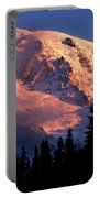 Mt. Rainier Dawn And Clouds Portable Battery Charger