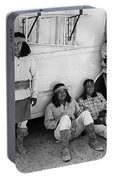 Native American Extras Dressed As Apache Warriors The High Chaparral Set Old Tucson Arizona 1969 Portable Battery Charger