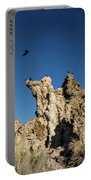 Natural Rock Formation And Wild Birds At Mono Lake, Eastern Sier Portable Battery Charger