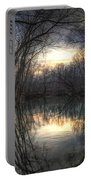 Neath The Willows By The Stream Portable Battery Charger