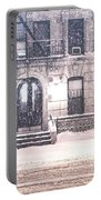 New York City Snow Portable Battery Charger by Vivienne Gucwa