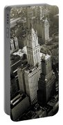 New York Woolworth Building - Vintage Photo Art Print Portable Battery Charger