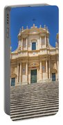 Noto, Sicily, Italy - San Nicolo Cathedral, Unesco Heritage Site Portable Battery Charger