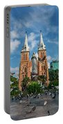 Notre-dame Cathedral Basilica Of Saigon, Officially Cathedral Basilica Of Our Lady Of The Immaculate Portable Battery Charger
