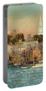 October Sundown Portable Battery Charger by Childe Hassam