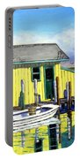 Old Crab Yellow Shacks Of Tangier Island Portable Battery Charger