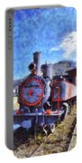 Old Steam Train In Nafplio Town Portable Battery Charger