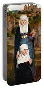 Old Woman At Prayer With St. Anne Portable Battery Charger