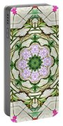 Orchids And Stone Wall Kaleidoscope 1764 Portable Battery Charger