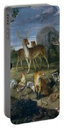 Orpheus And Animals Portable Battery Charger