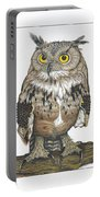 Owl In Pose Portable Battery Charger