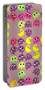 Pacman Seamless Generated Pattern Portable Battery Charger