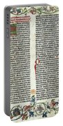 Page Of The Gutenberg Bible, 1455 Portable Battery Charger