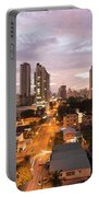 Panama City At Night Portable Battery Charger