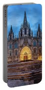Panorama Of Cathedral Of The Holy Cross And Saint Eulalia In The Portable Battery Charger