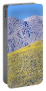 Panoramic View Of Desert Gold Yellow Portable Battery Charger
