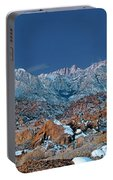 Panoramic Winter Morning Alabama Hills Eastern Sierras California Portable Battery Charger