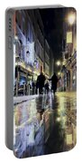 Paris In The Rain Portable Battery Charger