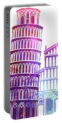 Barcelona Landmarks Watercolor Poster Portable Battery Charger