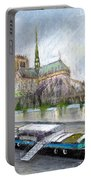 Paris Notre-dame De Paris Portable Battery Charger