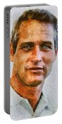 Paul Newman, Vintage Hollywood Actor Portable Battery Charger