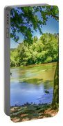 Peaceful On The River Portable Battery Charger