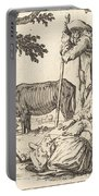 Peasant Couple With Cow Portable Battery Charger