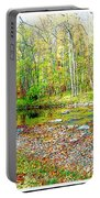 Pennsylvania Stream In Autumn, Digital Art Portable Battery Charger