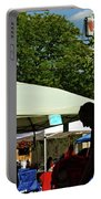 People At Food Event Portable Battery Charger