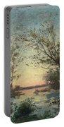 Per Ekstrom, French Landscape In Sunset. Portable Battery Charger