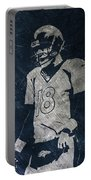 Peyton Manning Broncos Portable Battery Charger by Joe Hamilton