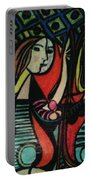 Picasso's Girl Beside A Mirror Portable Battery Charger