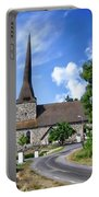 Picturesque Rural Church Portable Battery Charger