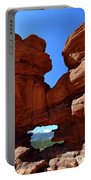 Pikes Peak Through Natural Window Portable Battery Charger