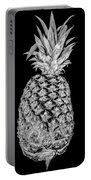 Pineapple Isolated On Black Portable Battery Charger